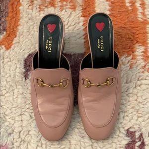 fb696d65c Gucci Princetown pink mid-heel slide size 39 1/2